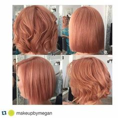 Considering a new hair color and I think I found it. Really digging this strawberry blonde meets rose gold! What do you think?? #ideas #hairinspo #rosegoldhair