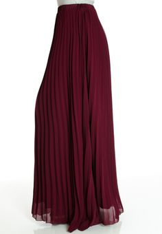 Grey Pleated Chiffon Maxi Skirt Chiffon Maxi Skirt | Maxi Skirt ...
