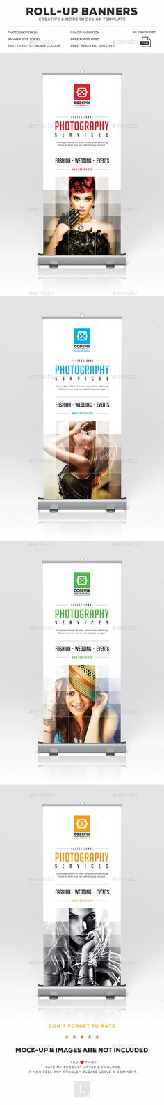 Photography Roll-Up Banner  — PSD Template #signage #advert • Download ➝ https://graphicriver.net/item/photography-rollup-banner/18074518?ref=pxcr
