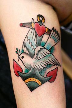 Anchor & Sparrow #tattoo