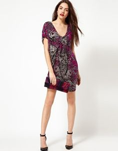 Enlarge French Connection Drape Printed Dress