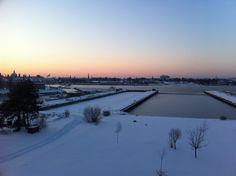 Enalyzer, HQ, Copenhagen. Office view. Winter.
