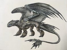 Night Fury by KairaTheCat.deviantart.com on @DeviantArt