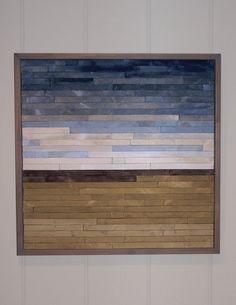 Reclaimed Wood Abstract Landscape Original von RusticWoodOriginals