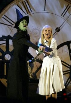 Congratulations, #WICKED, on your 10th Year Anniversary on #Broadway!  <3 Pic: original cast of Idina and Kristin :) #FaveMusicalEver