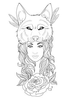 Tattoo Design - Wolf Girl by Chronokhalil
