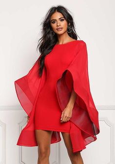 Size 16 Dresses, Short Dresses, Dress Outfits, Fashion Outfits, Latest African Fashion Dresses, Bell Sleeve Dress, Contemporary Fashion, African Dress, Kaftan