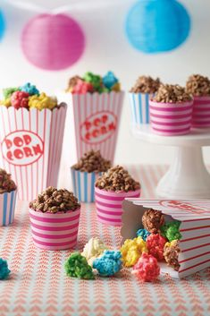 Colourful Chocolate Crackle Popcorn, a quick and easy kid's party treat idea
