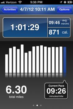 RunKeeper - Great App - tracks time, distance, time per mile, calories burnt, etc.