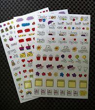 Calendar/Planner Stickers - 290 - Perfect for Erin Condren, Kikki K, Filofax
