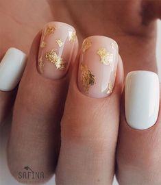 Gelish Nails, Nail Manicure, Shellac, Chic Nail Designs, Short Nail Designs, Short Gel Nails, Simple Gel Nails, Bridal Nail Art, Nagellack Design