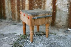 Lot 29 - Vintage Butcher Block Table in Gowanus, Brooklyn, NY, USA ~ Krrb