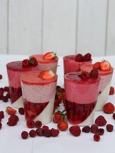 Strawberry and Raspberry Dessert