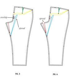 Adjustment for dipping back waist aka full butt adjustment! full-fig-3-4
