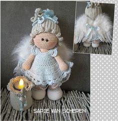 Van Sweet Noa een engel gemaakt. Kooppatroon van Marrot Design en wat aanpassingen van mezelf