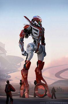Sci-fi Art: Speeder Mech - 2D Digital, Concept art, Sci-fiCoolvibe – Digital Art