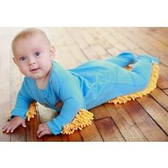 Baby Mop. LOL! @Kathryn McCoy. You should so do this! Your floor would be so clean