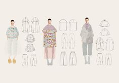 Fashion Sketchbook - technical fashion drawings; fashion design portfolio // Barbara Eck