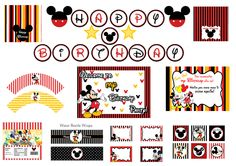 Mickey mouse party package. $5.00, via Etsy.