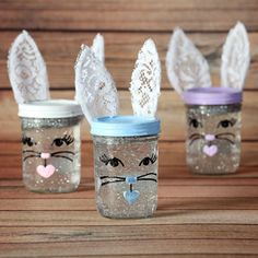 Easter Bunny Snow Globes