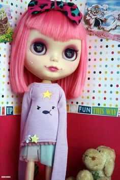 Lumpy Space Princess shirt for blythe dal  by MiercolesHappy