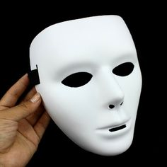 Free shipping 1pcs/lot Hip-hop horror 2013 Halloween white face mask $4.59