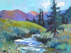 Crested Butte Stream by Tracy Haines Pastel ~ 9 x 12 $450.00 available from Framed Image in Happy Canyon Shopping Center, Denver, CO http://framedimage.net