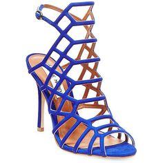 Steve Madden Slithur Caged Dress Sandals (1,640 MXN) ❤ liked on Polyvore featuring shoes, sandals, dress sandals, caged sandals, steve madden footwear, steve madden sandals and caged shoes