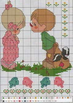 Cross Stitch Fruit, Cross Stitch Baby, Cross Stitch Charts, Precious Moments, Cross Stitch Alphabet Patterns, Cross Stitch Designs, Cross Stitch Collection, Cross Stitching, Needlepoint