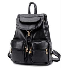 Buy 'BeiBaoBao � Faux-Leather Drawstring Flap Backpack' with Free International Shipping at YesStyle.com. Browse and shop for thousands of Asian fashion items from China and more!