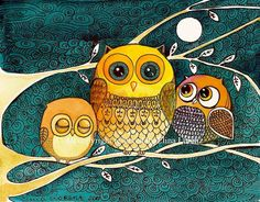 Owls by+sublimecolors
