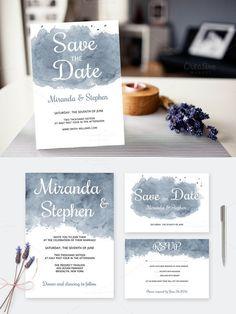 Watercolor Wedding Invitations. Printables. $8.00