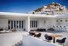 ★ Ios Club Cocktail Bar - Greece ★ Restaurant Bar, Greece, Ios, Cocktail, Club, Mansions, House Styles, Outdoor Decor, Home Decor