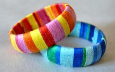 You are currently showing here the result of your DIY Bangles Fashion for Girls. DIY Bangles Fashion is a rigid bracelet or anklet which you can be apply on Silk Thread Bangles Design, Silk Bangles, Thread Jewellery, Jewellery Diy, Jewelry Crafts, Jewelry Ideas, Jewelery, Handmade Jewelry, Bangles Making