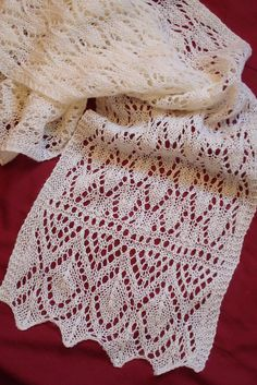 Ravelry: Estonian Flamingo Lace pattern by Melinda VerMeer