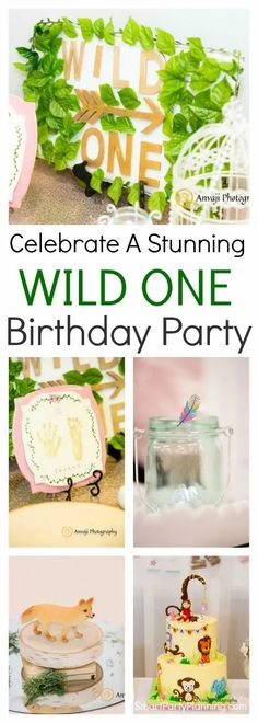 A wild one birthday party is a party theme that everyone is going to love. Filled with animals, pops of color, boho and tribal flair, it will be a party to remember.Teamed with bright decorations, and gorgeous party treats this first birthday party is perfect for both the boys and the girls. Baby's First Birthday Gifts, First Birthday Themes, Wild One Birthday Party, Party Themes For Boys, Baby Girl First Birthday, Boy Birthday Parties, Birthday Party Decorations, First Birthdays, Birthday Ideas