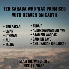 Ten Sahaba who was promised with heaven on earth Islamic Posters, Islamic Quotes, Quran Verses, Quran Quotes, Crazy Facts, Weird Facts, God Forgives, Imam Ali Quotes, New Year Wallpaper