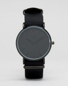 Image 1 of Reclaimed Vintage Inspired Canvas Watch In Black Exclusive to ASOS