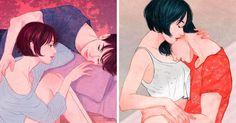 11 Delicadas ilustraciones que capturan el poder del amor verdadero en sus primeras etapas