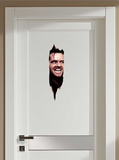 THE SHINING HERES JOHNNY JACK NICHOLSON FATHEAD-STYLE REPOSITIONABLE GRAPHIC DECAL STICKER    *** We manufacture our own eco-friendly graphics,