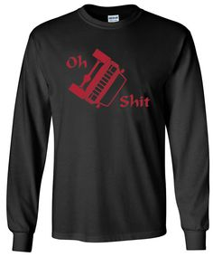 Jeep XJ Cherokee OH S**T Rollover Design Long Sleeve Black Shirt Size