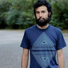Mens graphic tee tshirt for men geometric by blackbirdtees