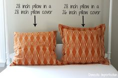 Why you should use pillow inserts that are larger than the pillow cover
