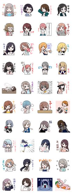 It is the sticker of various girls.