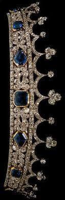 Diamond & sapphire tiara designed by Prince Albert for Queen Victoria.