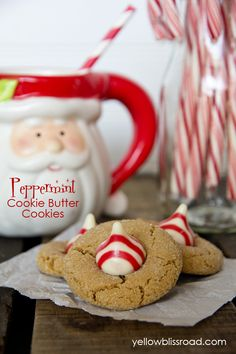 Peppermint Cookie Butter Blossoms