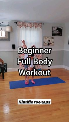 Beginner Full Body Workout, Gym Workout For Beginners, Gym Workout Tips, Fitness Workout For Women, At Home Workout Plan, Easy Workouts, Fitness Diet, Workout Videos, At Home Workouts