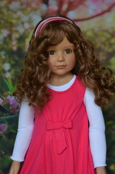 "Masterpiece Dolls Laura by Monika Peter Leicht 39"" Green Eyes Full Vinyl 