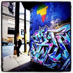 Graffiti in a downtown Vancouver alley, by Mark van Manen,