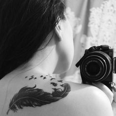 Birds and feather #tattoo